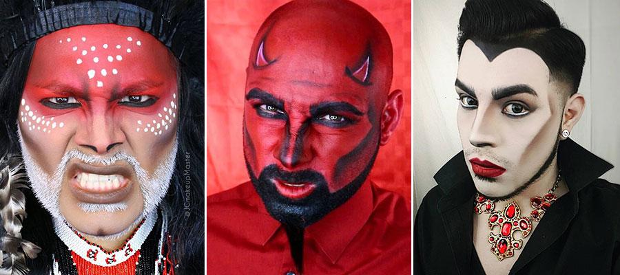 Мужской макияж на Хэллоуин!