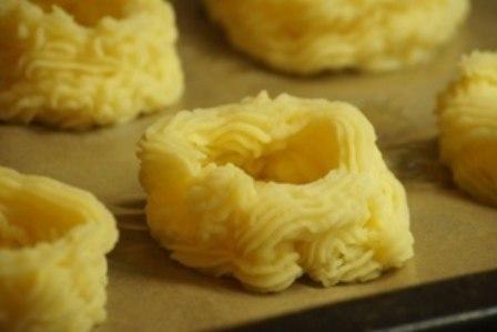 рецепт картофельных гнездышек с грибами и сыром silady.ru