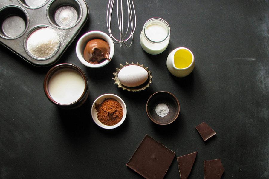 Ингредиенты для тонких шоколадных блинов и шоколадного крема | silady.ru