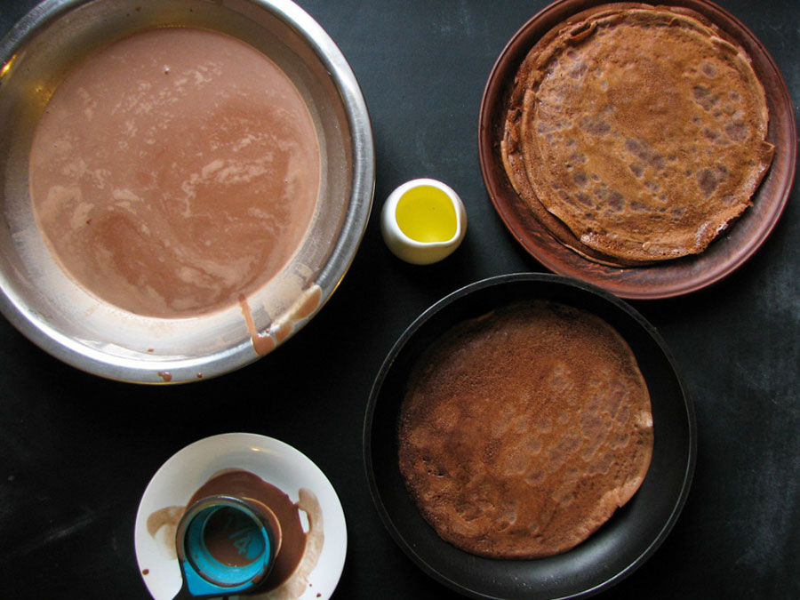 тонкие шоколадные блинчики | silady.ru