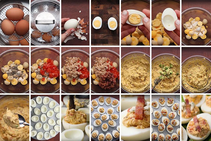 Простой пошаговый фото рецепт фаршированных яиц | Пасха | Блюда из яиц | Простые и вкусные рецепты | SiLady.ru