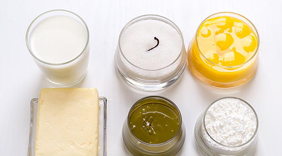 ингредиенты для приготовления фисташкового заварного крема | silady.ru