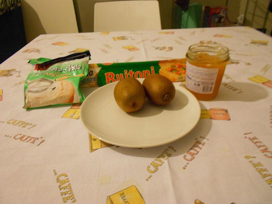 ингрeдиенты для приготовления слойки с джемом и киви silady.ru