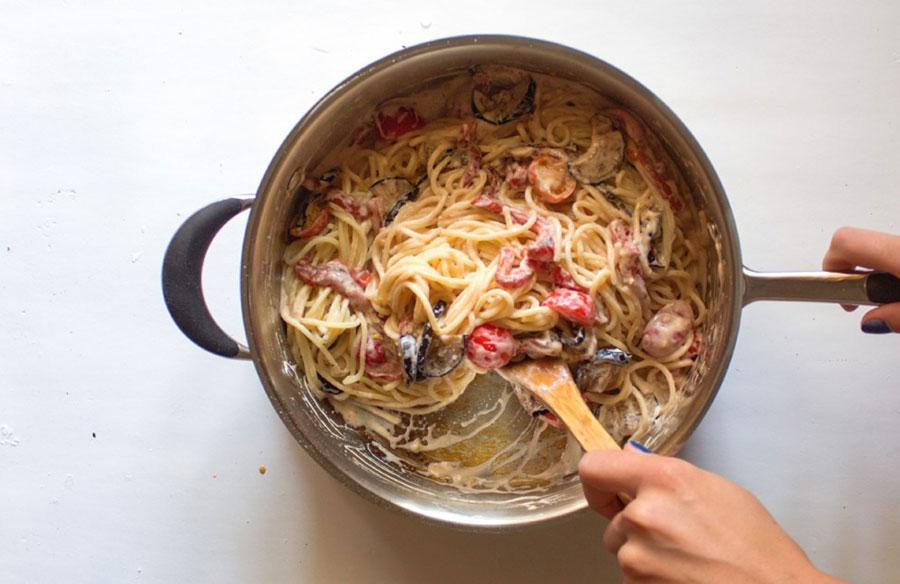 спагетти со сливочным соусом | silady.ru