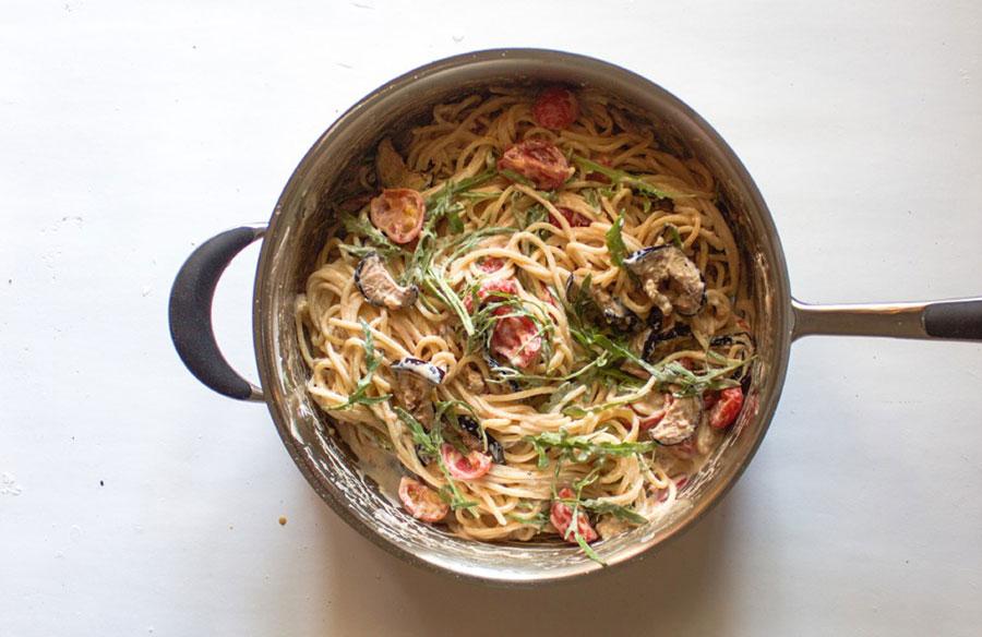 спагетти с овощами в сливочном соусе | silady.ru