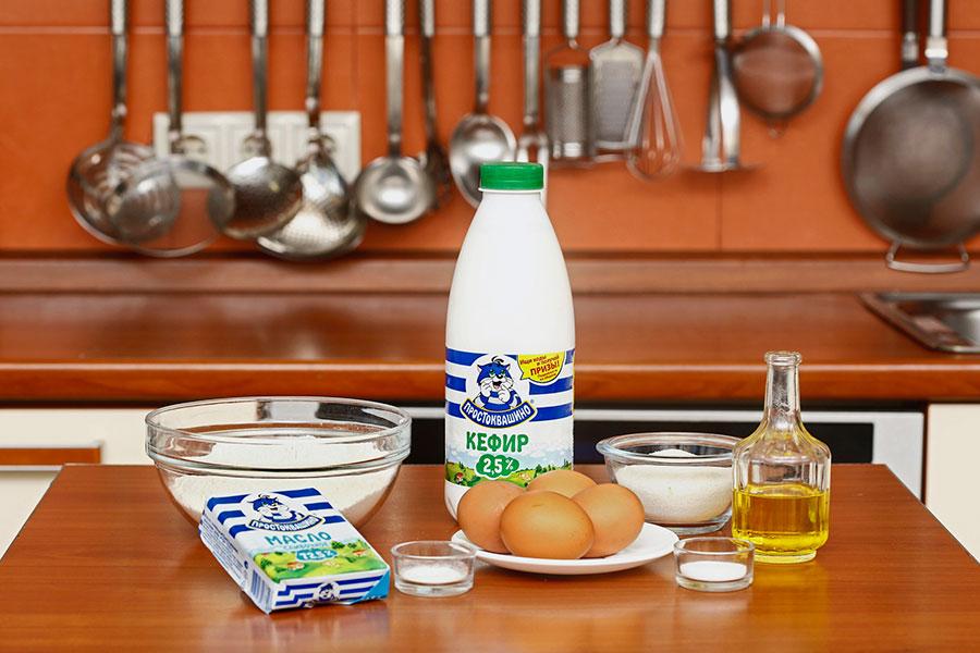 Ингредиенты для тонких блинов на кефире | silady.ru